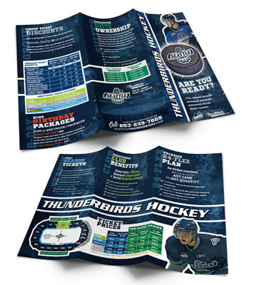 Tri Fold season ticket brochure example